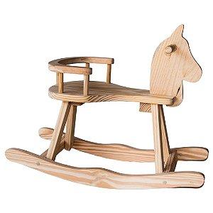 Cavalo de Balanço de Madeira - Brinquedo Educativo