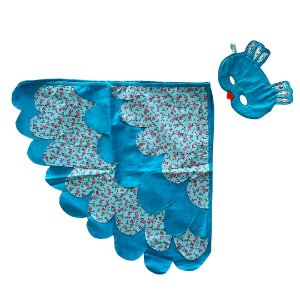 Fantasia infantil 100% Algodão - Coruja Azul