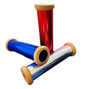 Brinquedo de madeira - Caleidoscópio com Pedrinhas Triangular