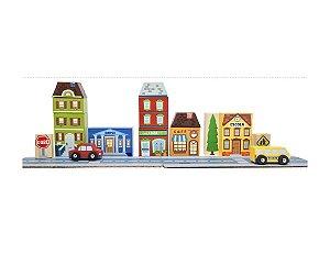 Bloco de Montar Cidade com Escola - Brinquedo Educativo