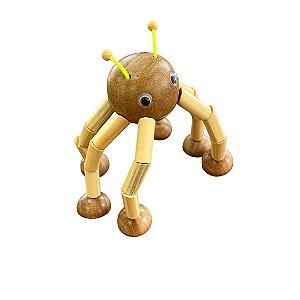 Brinquedo de madeira articulado - Aranha Tetéia