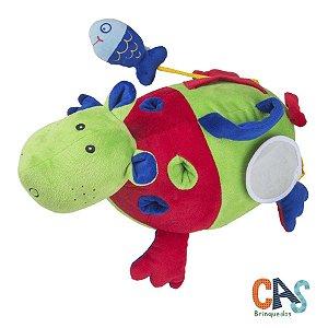 Hipopótamo de Atividades - Bicho de Pelúcia