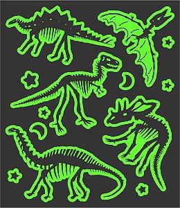 Tatuagem temporária - Glowfun Dinossauros