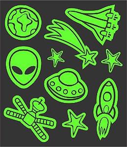 Tatuagem temporária - Glowfun Espaço Aliens