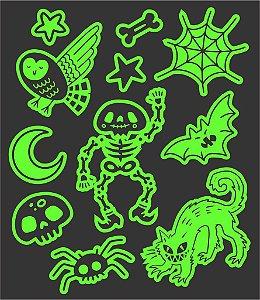 Tatuagem temporária - Glowfun Skeleton