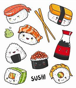 Tatuagem temporária - I Love Sushi