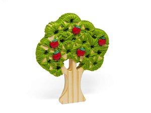 Alinhavo Árvore Macieira - Brinquedo Educativo de Madeira