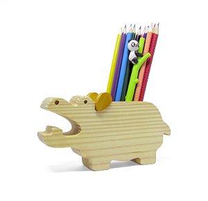 Porta Lápis e Celular - Hipopótamo Pancho