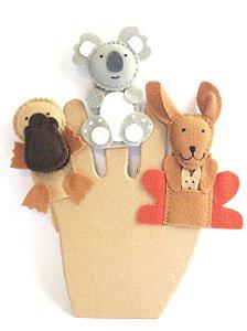 Dedoche  Animais Australianos - Fantoches de Dedo