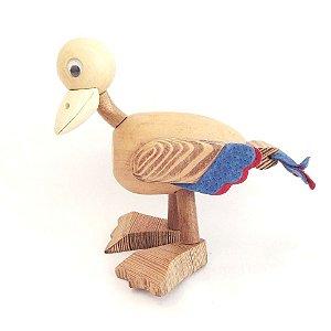 Brinquedo de madeira articulado - Pato Quac