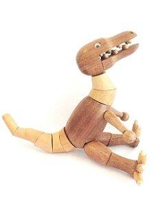 Brinquedo de madeira articulado - Abelissauro Mauro