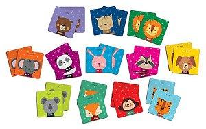 Super memória animais da floresta - Brinquedo Educativo
