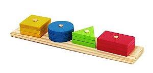 Brinquedo Educativo de Madeira - Formas Geométricas Simples