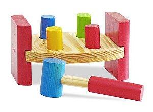 Brinquedo de Madeira - Bate Pinos Junior