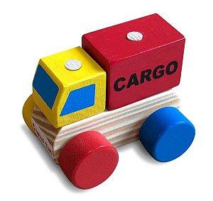 Brinquedo de Madeira - Mini Caminhão de Carga Júnior