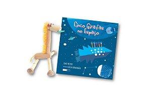 Kit Girafas! Livro + Boneco de madeira