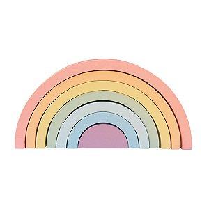 Arco-íris de Madeira Candy - Inspirado Pedagogia Waldorf