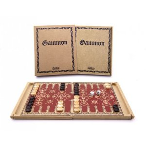 Jogo de Tabuleiro de Madeira -  Gammon (Gamão)