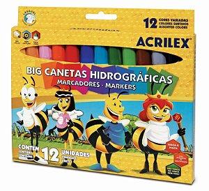 Big Canetinhas Hidrográficas Abelhinhas - 12 cores