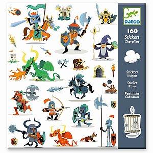 160 Adesivos Infantis - Cavaleiros