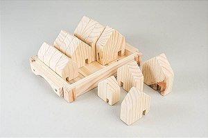 Kit casinhas de madeira