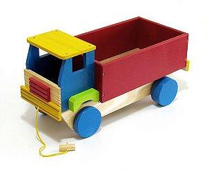 Brinquedo de Madeira - Caminhão com Caçamba