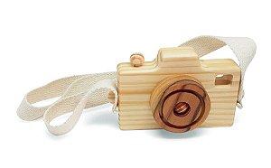 Câmera Fotográfica Lúdica (alça cru) - Brinquedo Educativo de Madeira