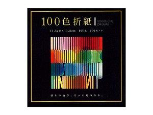 Papel de Dobradura 100 cores lisas 11,5x11,5cm 100Fls