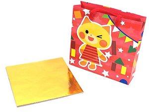 Papel de Dobradura com sacola vermelha 15x15cm 45 FLs