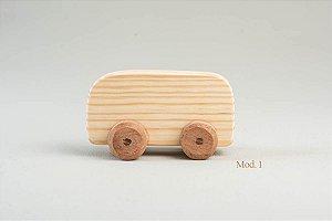 Carrinho de madeira - modelo 1