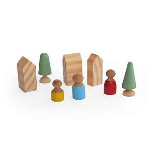 Vilarejo de madeira - Inspirado pedagogia Waldorf