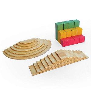 Brinquedo de Madeira - Formas - Coleção Mundo Lume - 27 blocos