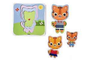 Quebra-cabeça Infantil - Progressivo Família Tigre