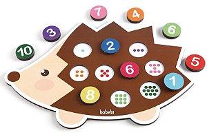 Conte até 10 com o Ouriço - Brinquedo Educativo