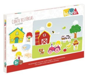 Quadro Conte Histórias Fazendinha - Brinquedo Educativo