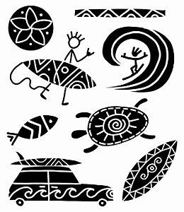 Tatuagem temporária - Praia Tribal Kids