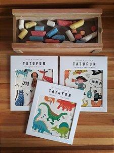 3 Cartelas de Tatuagens temporárias! Combo para crianças de 3 - 8 anos