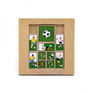 Escape futebol - Quebra Cabeça de Madeira