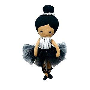 Boneca de Pano Asiática (oriental) - Bailarina Bia