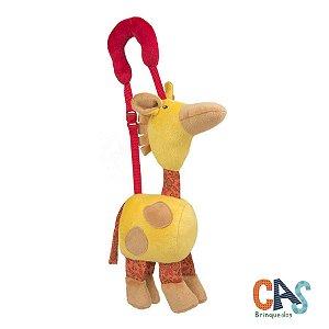 Vamos Passear Girafa - Brinquedo Sensorial de Pelúcia