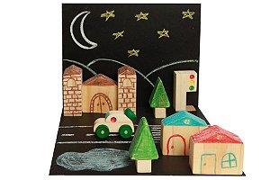 Coleção Cidade Castelo - Brinquedo Educativo de Madeira