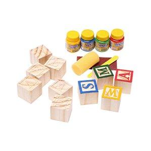 40 Blocos de Madeira - Brinquedo Educativo