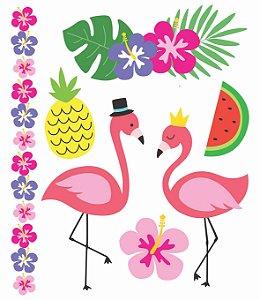 Tatuagem Temporária - Flamingos