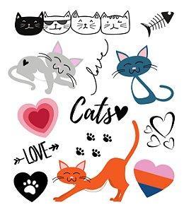 Tatuagem temporária - Pets 4 Cats