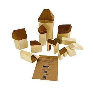 Castelo de madeira tipo Waldorf - 11 peças