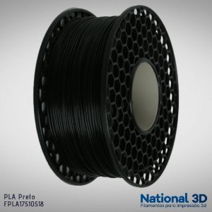 Filamento PLA National3D Preto