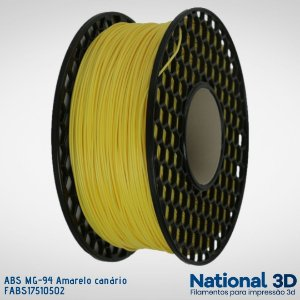 Filamento ABS MG-94 National3D Amarelo canário