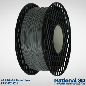 Filamento ABS MG-94 National3D Cinza claro