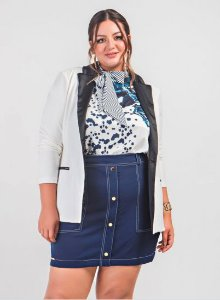 BLAZER SPENCER ALONGADO COM BOLSO - CHERRY