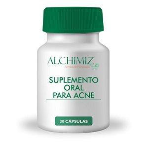 Suplemento oral para acne 30 cápsulas ; Vitamina A 10.000UI Vitamina B6 50mg Vitamina C 300mg Zinco Quelato 30mg Cobre Quelato 1mg